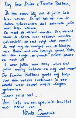 Blauwe brief schrijven